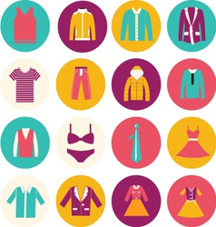 Clothes flat icons - vector image