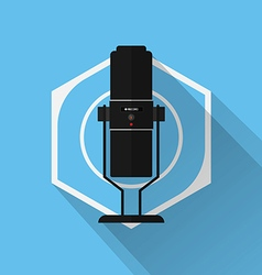 Gaming Gear Flat Icon Microphone vector image vector image