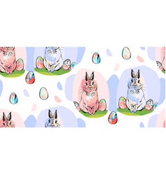 hand drawn abstract collage drawing cute vector image
