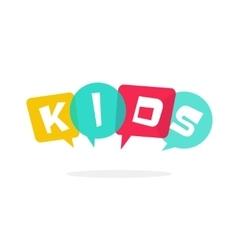 Kids logo children education school vector image vector image