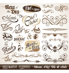menu elements vector image