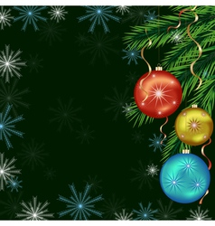 Background for New Year and Christmas vector image vector image