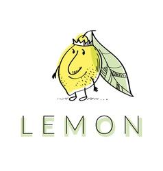 citrus lemon vector image vector image