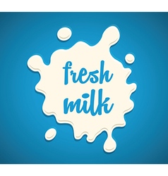 milk splodge blue background vector image vector image
