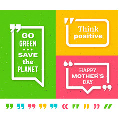 Quote frame templates Quotation marks set vector image