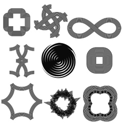 Set f Different Geometric Shapes vector image
