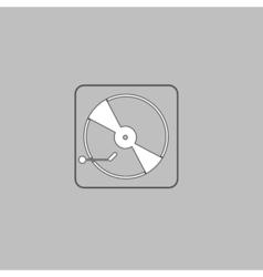 Vinyl turntable computer symbol vector image