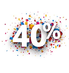 40 sale sign vector image