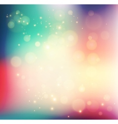 Abstract holiday light background with bokeh vector image
