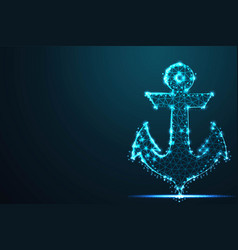 anchor nautical maritime abstract 3d polygonal vector image