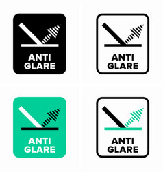 Anti glare or anti reflective coating information vector