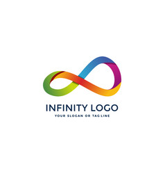 Awesome infinity logo design vector