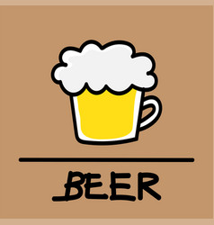 beer hand-drawn style vector image
