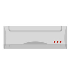 Big heater icon flat style vector