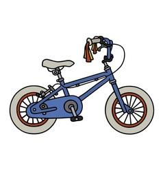 Blue child bike vector