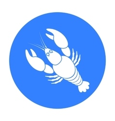 Boiled lobster icon in black style isolated on vector