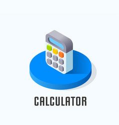 calculator icon symbol vector image vector image