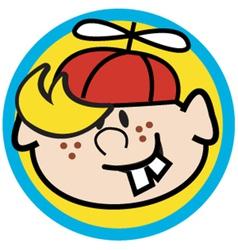 Cartoon boy face vector
