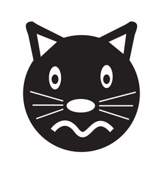cat face emotion icon sign design vector image