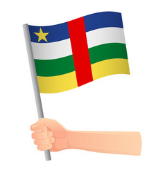central african republic flag in hand vector image
