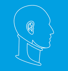 Cervical collar icon outline style vector