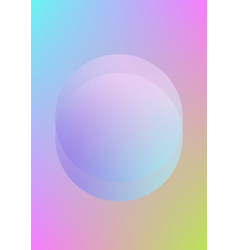 circle fluid with round spheres vector image