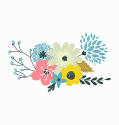 colorful set floral compositions in vector image