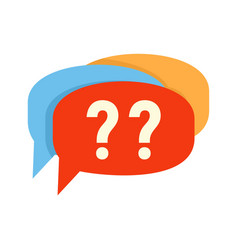 Confuse alzheimer question icon flat style vector