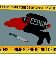 crime scene freedom is dead vector image