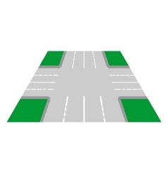 Crossroads perspective view vector