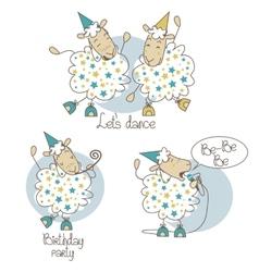 Dancing sheep vector