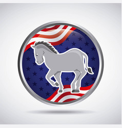 democrat political party animal vector image