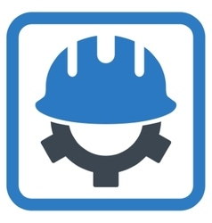 Development Helmet Flat Icon vector