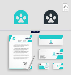 dog pet shop logo template vector image