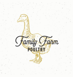 Family farm poultry abstract sign symbol vector