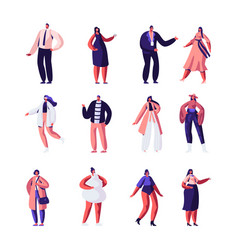 fashion designers and models set haute couture vector image
