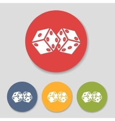 Flat dice icons set vector image