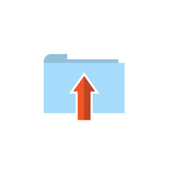 flat folder upload icon vector image