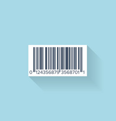 Flat web icon Barcode vector