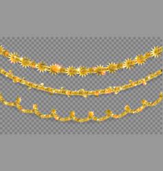 gold shine garland vector image