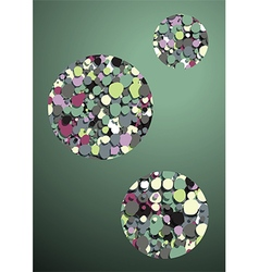 green background bubbles inside vector image