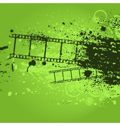 Grunge green film vector