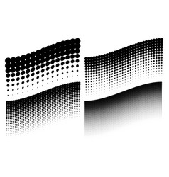 Halftone dots wave pattern backgrounds vector