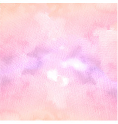 hand painted soft pink watercolor texture vector image