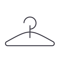 hanger line icon sign on vector image
