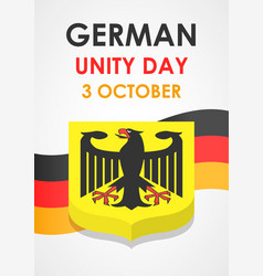 happy german unity day concept background vector image