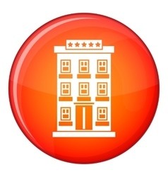 Hotel building icon flat style vector
