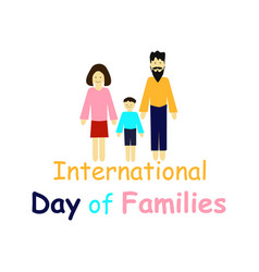 International family day people woman man child vector