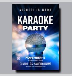 Karaoke poster colorful instrument vector