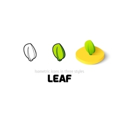 Leaf icon in different style vector image